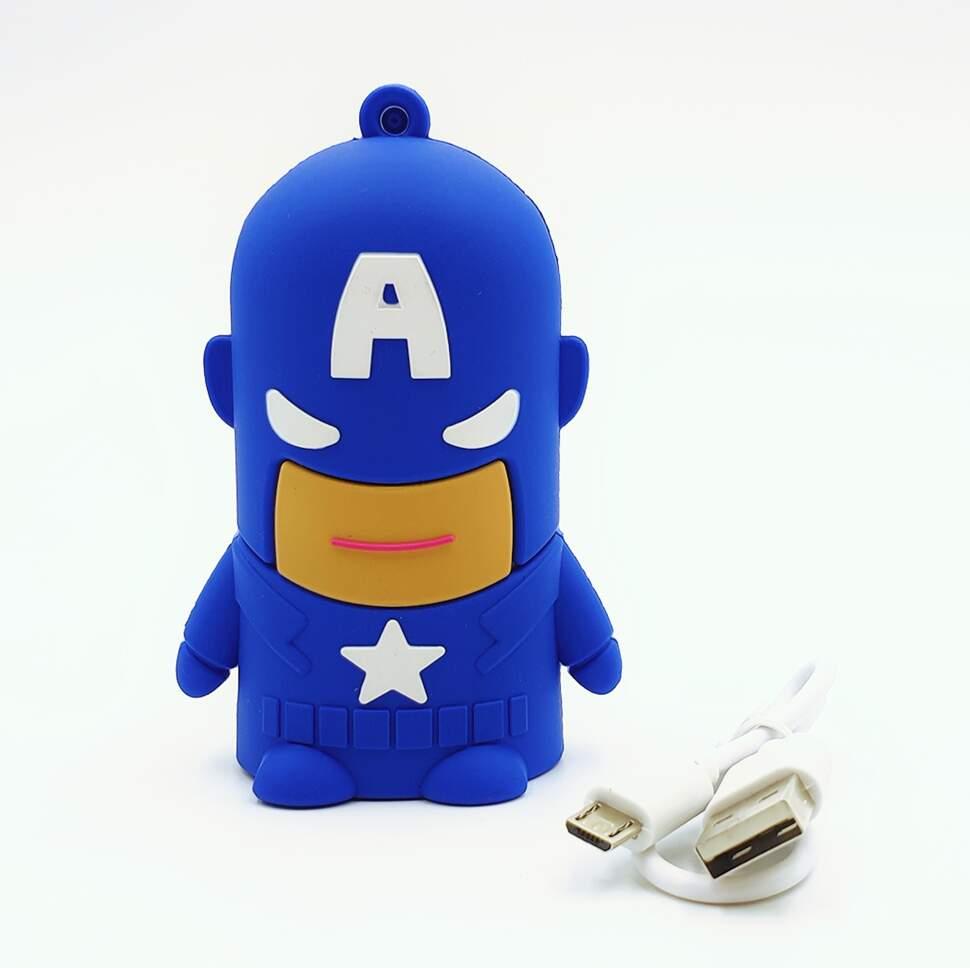 "Внешний аккумулятор Power Bank ""Капитан Америка"" 4400 mAh"