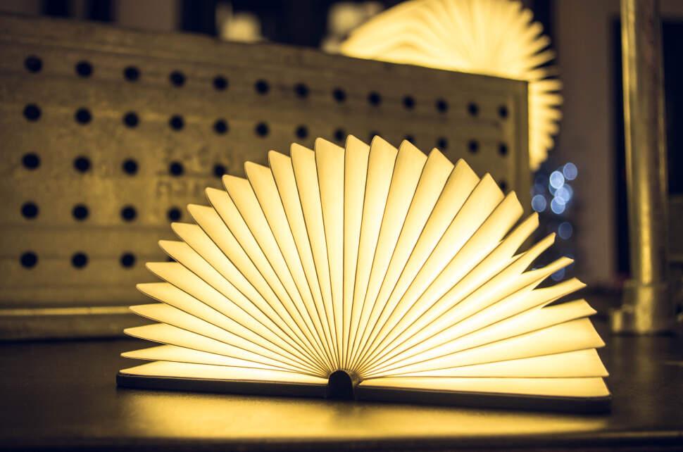 Светильник книга мультиколор с USB-кабелем Book Lamp