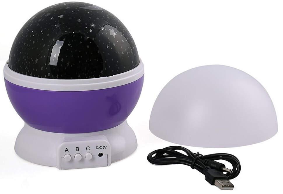 """NCH-021 Ночник-проектор """"Star Master"""" вращающейся с USB-кабелем Фиолетовый"""