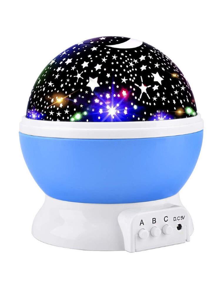 """NCH-021 Ночник-проектор """"Star Master"""" вращающейся с USB-кабелем Голубой"""