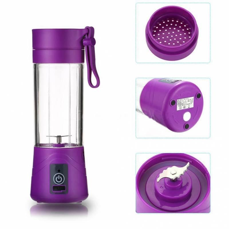 Портативный USB блендер Juice Blender для смузи фиолетовый