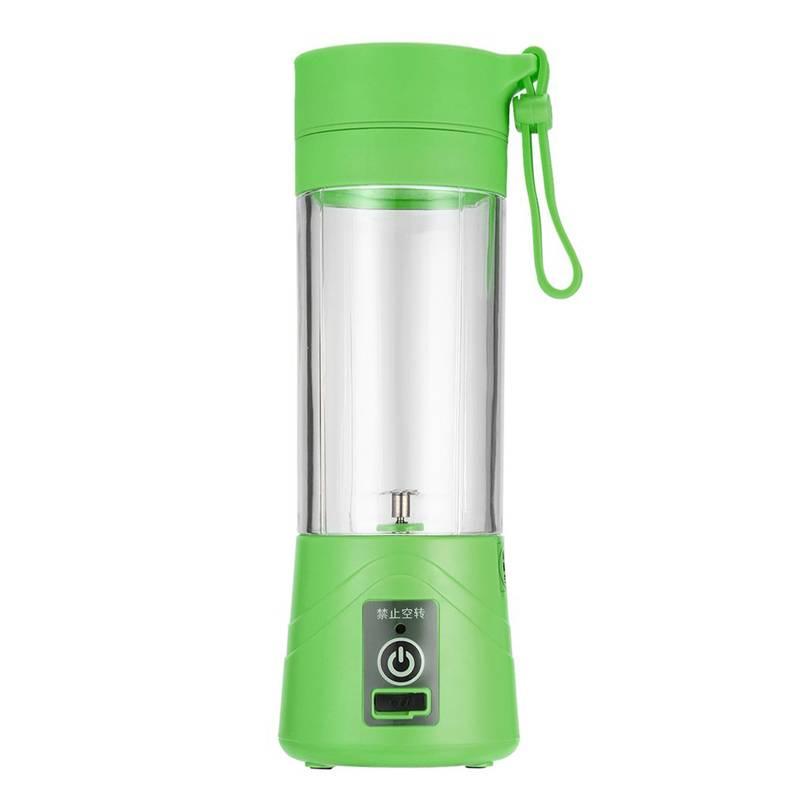 Портативный USB блендер Juice Blender для смузи зелёный