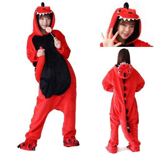 Пижама кигуруми Красный Дракон