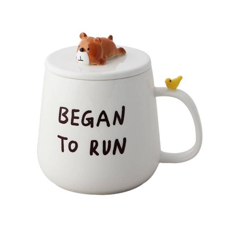Кружка Began to Run (c крышкой)