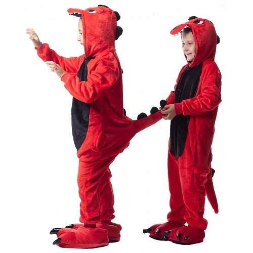 Кигуруми для детей Красный Дракон