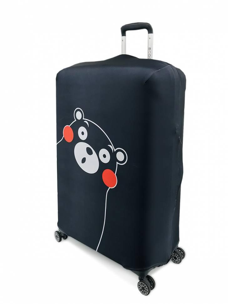 """Чехол для чемодана """"Чёрный медведь"""""""