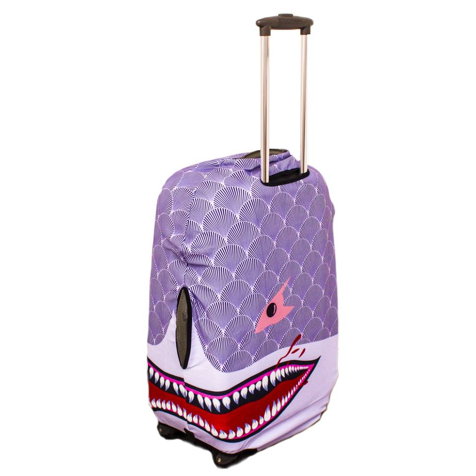 "Чехол для чемодана ""Фиолетовая акула"""
