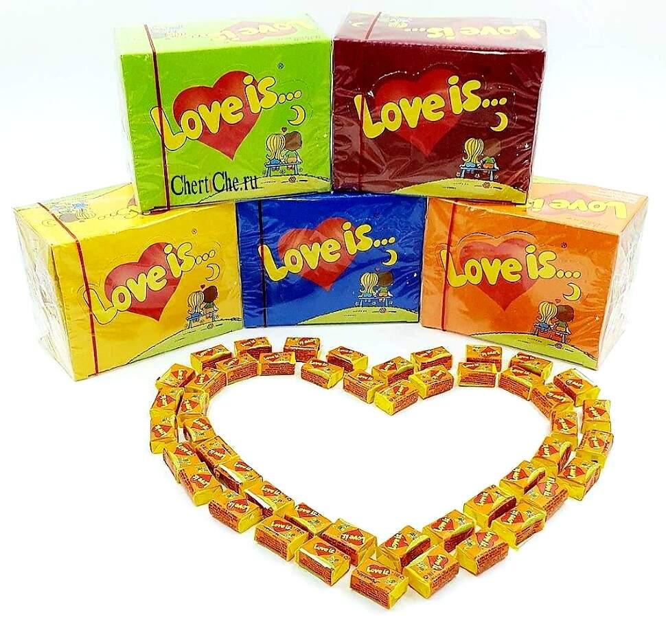 Жевательная резинка Love is (блок 100 шт.)