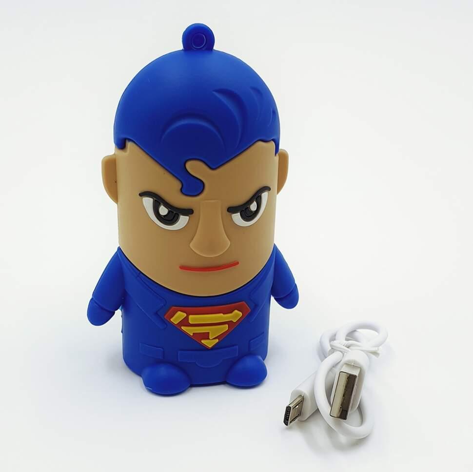 """Внешний аккумулятор Power Bank """"Супермен"""" 4400 mAh"""