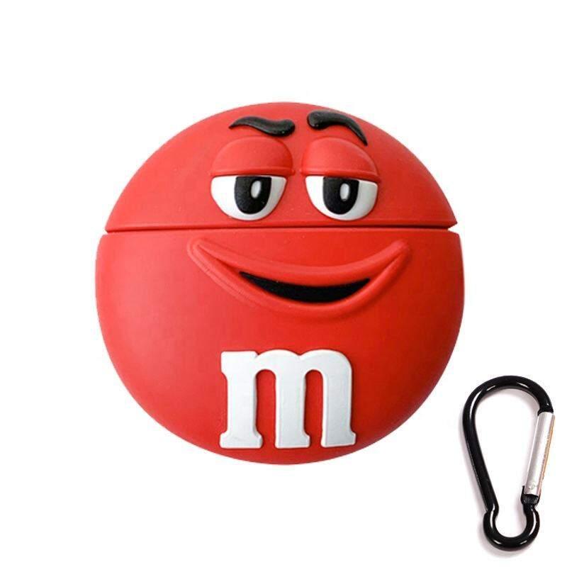Чехол для наушников силиконовый M&M красный