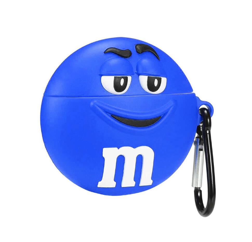 Чехол для наушников силиконовый M&M синий