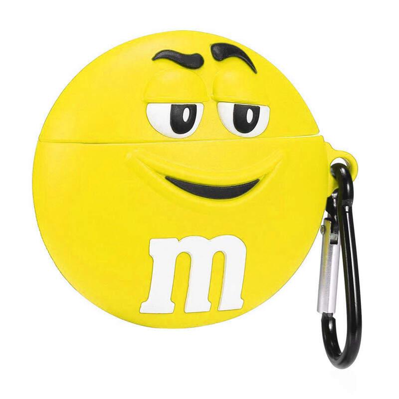 Чехол для наушников силиконовый M&M жёлтый