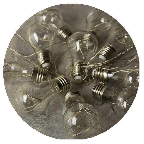 Электрическая гирлянда Лампочки 3 м.