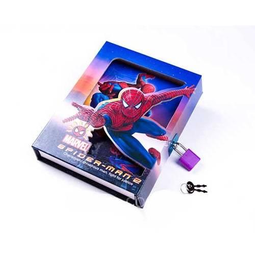 Блокнот Человек-паук с замком