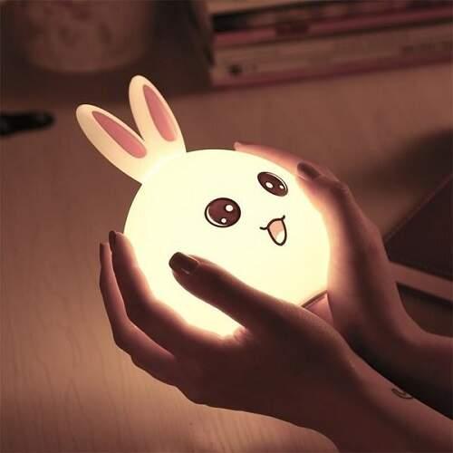 Детский ночник Зайчик светодиодный с пультом
