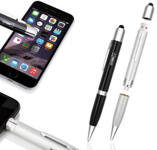 Ручка 3 в 1 (стилус + зарядное устройство + ручка) 650 mAh